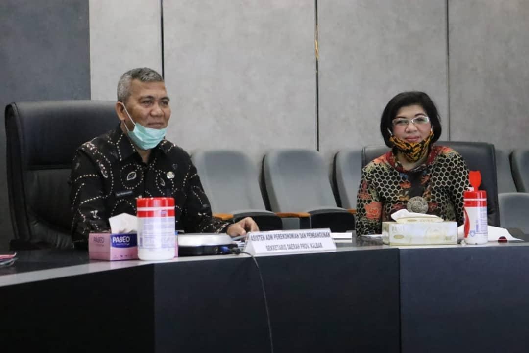 Video Conference Ketahanan Pangan Ditengah Pandemi Covid-19 diselenggarakan dalam rangka menindaklanjuti Ratas Presiden dan Para Menteri tg 12 Mei 2020
